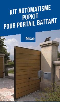 Kit automatisme NICE pour portail battant POPKIT - POP7124KCE