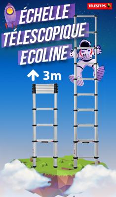 Échelle télescopique Ecoline TELESTEPS 3.00 m