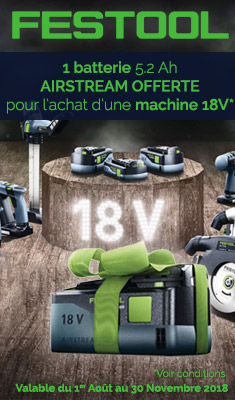 Batterie Offerte FESTOOL Airstream