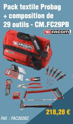 Pack textile Probag + composition de 29 outils FACOM - CM.FC29PB