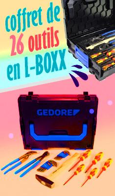 Coffret de 26 outils GEDORE en L-BOXX