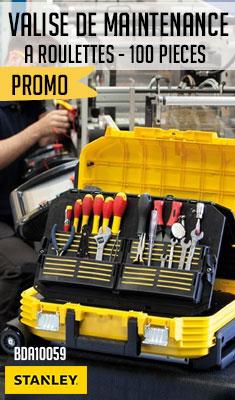 Valise de maintenance STANLEY - A roulettes contenant plus de 100 pieces - FMST1-75530