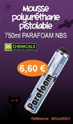Mousse polyuréthane pistolable 750 ML PARAFOAM NBS