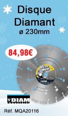 Disque Diamant Ø230 MM Pour le Béton, Acier, Asphalte, la fonte - DSL125