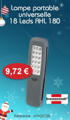 Lampe Portable universelle BRENNENSTUHL 18 Leds AHL 180 - 1175410