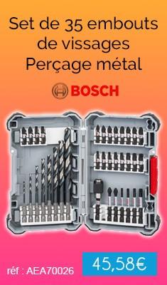 Set de 35 embouts de vissages BOSCH Impact - Perçage métal - 2608577148