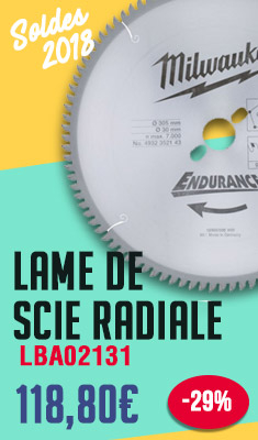 Lame de scie radiale MILWAUKEE 305 mm 96 dents