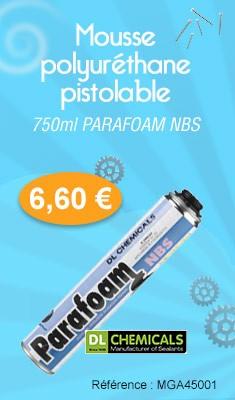 Mousse polyuréthane pistolable 750 ML PARAFOAM NBS