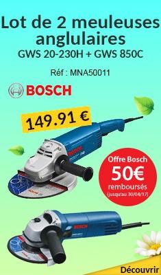 Lot de 2 meuleuses angulaires BOSCH GWS 20-230H + GWS 850C - 0615990H1S