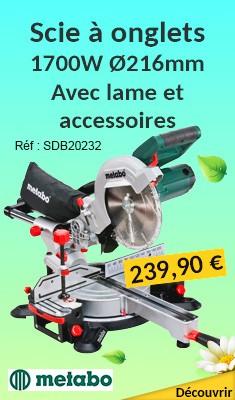 Scie à onglets METABO 1700W Ø216mm - Avec lame et accessoires - KGSV 216 M