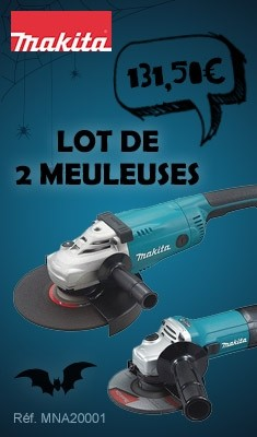 Lot de 2 meuleuses MAKITA 125 mm GA5030 + 230 mm GA9020 - MEU042