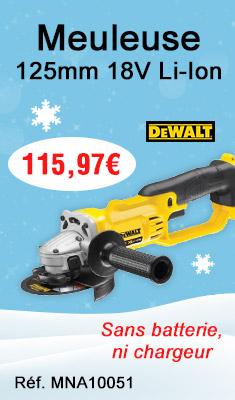 Meuleuse DEWALT 125 mm 18 V - Li-Ion - Sans batterie, ni chargeur - DCG412N