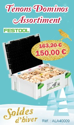 Tenons Dominos FESTOOL Assortiment