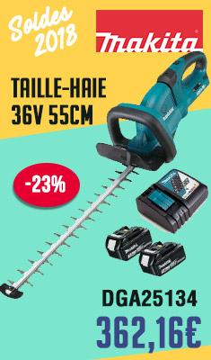 Taille-haie 36V MAKITA 55cm - 2x18V Li-ion - avec 2 batteries + 1 chargeur rapide - DUH551Z-P
