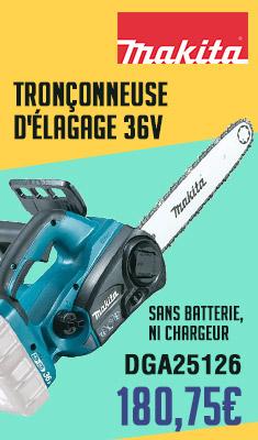 Tronçonneuse d élagage MAKITA 36 V 2 x 18 V Li-Ion - Sans batterie, ni chargeur - DUC302Z