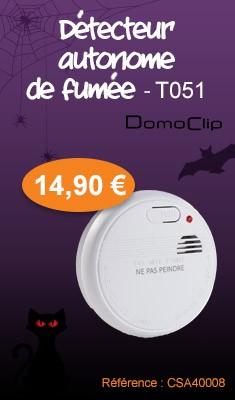 Détecteur avertisseur autonome de fumée DOMO CLIP - T051