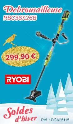 Débrousailleuse RYOBI RBC36X26B - 36V 4.0Ah - 1 Batterie, chargeur, accessoires - 5133001813