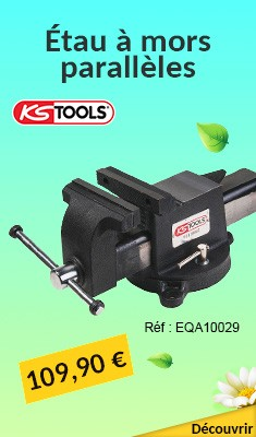 Étau à mors parallèles KS TOOLS 125 mm - Carbone Edition - 914.0045A1