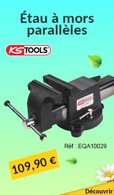 Étau à mors parallèles KS TOOLS 125 mm - Carbone Edition - 914.0045A1