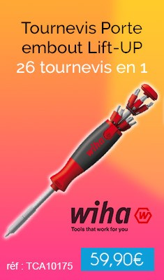 Tournevis WIHA Porte embout Lift-UP - 26 tournevis en 1 - 40911