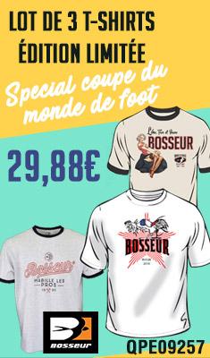 Lot de 3 Tee-shirts édition limitée 2018 BOSSEUR