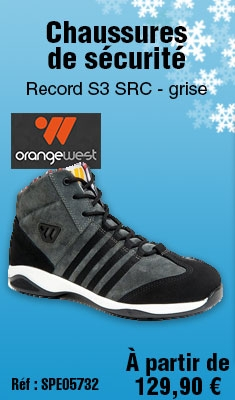 Chaussures de sécurité ORANGE WEST Record S3 SRC - grise - 645222