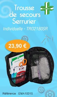 Trousse de secours FARMOR - Serrurier - individuelle - TRO 2180 SR