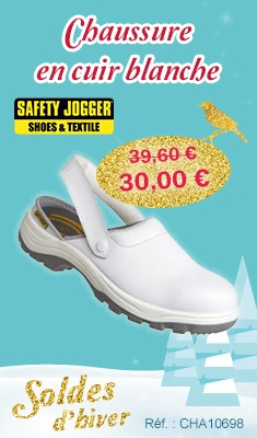 Chaussure en cuir blanche - Taille 44 - SAFETY JOGGER - X0700