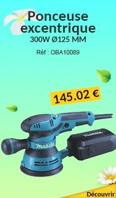 Ponceuse excentrique MAKITA 300W Ø125 MM + 1 Abrasif en Coffret MAK-PAC - BO5041J