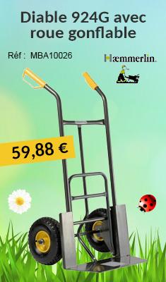 Diable HAEMMERLIN 924G - Avec roue gonflable - 307732001