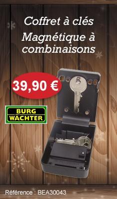 Coffret à clés BURGWÄCHTER 10 SB - Magnétique à combinaisons - 37990