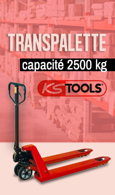 Transpalette capacité 2500 kg KSTOOLS - 160.0200