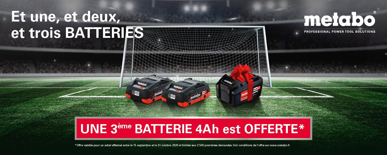 Votre 3ème batterie en 4,0 Ah Li-Power offerte !