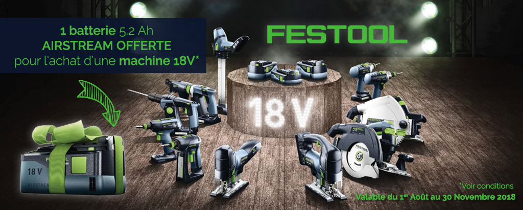 Batterie offerte FESTOOL Airstream