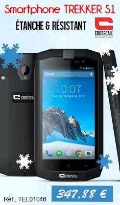 Smartphone TREKKER S1 Noir IP67 - 4G PackPro CROSSCALL