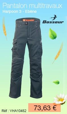 Pantalon multitravaux BOSSEUR Harpoon 3 Ebène