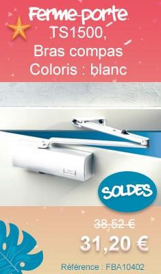 114670 Ferme-porte TS1500, bras compas - Coloris : blanc