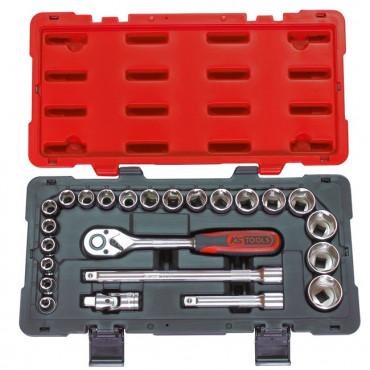 Coffret de douilles, cliquets et accessoires KS TOOLS ULTIMATE 1/2'' - 24 pièces - 922.0623
