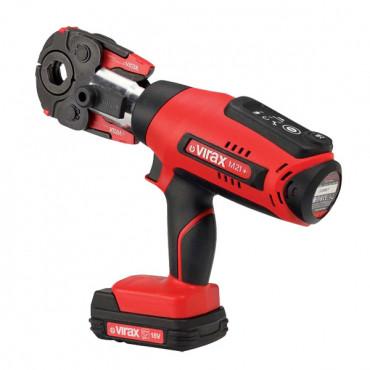 Presse à sertir électro-mécanique VIRAX Viper® M21+ pince mère + 2 batteries + chargeur - 253502