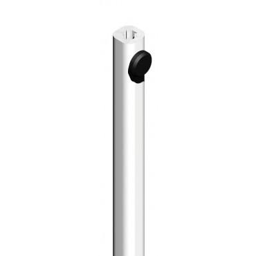 Tringle alu 2500 mm CROISEE DS - blanc - 6888
