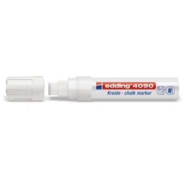 Marqueur EDDING Blanc non permanent craie liquide 4-15mm pour fenêtres et ardoises - 4095049