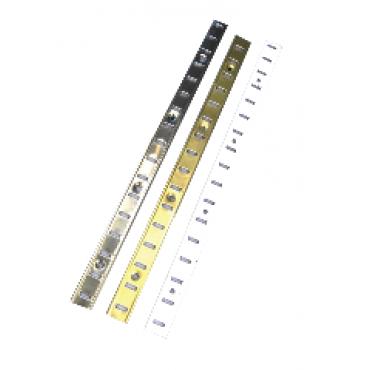 Crémaillère MONIN SAS - Acier laitonné - Larg.16 mm - Barre de 2 mL - 270701