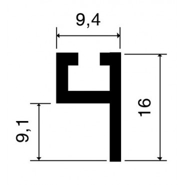 Profil porte-joint 4110 VACHETTE L.2.25 m - 866992