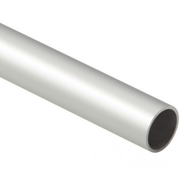 Tube rond alu anodisé argent Ø20 mm - ép.1.5 mm - 3ml