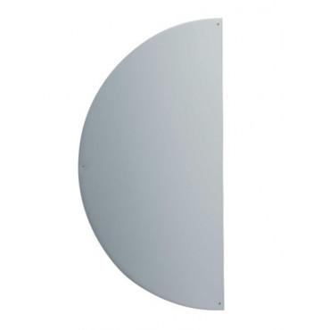 Plaque demi-lune adhésive 300x150x1 DUVAL BILCOCQ Alu argent - Chant adouci - 11-0102-1630