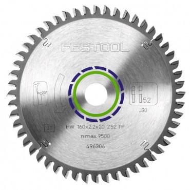 Lame de scie spéciale FESTOOL 160x2,2x20 TF52 - 496306