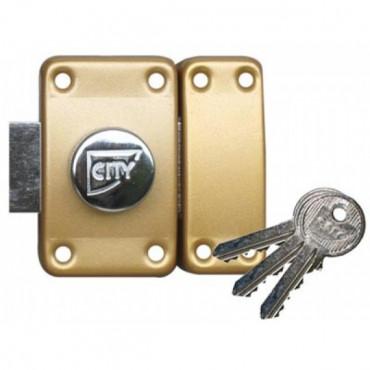 Verrou ISEO City 25 à bouton - Cylindre 30 mm - Sur variure NV 05 - 10020301.5
