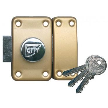 Verrou ISEO City 25 double cylindre - Cylindre 40 mm - Sur variure NV 05 - 10020402V05