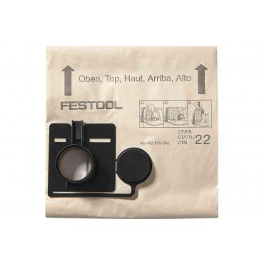 Paquet 5 sacs filtre CT22 FESTOOL - 452970