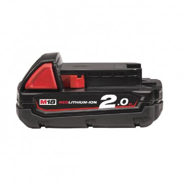 Batterie MILWAUKEE 18V 2 Ah Red Li-Ion M18B2 - 4932430062
